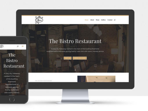 Kampala Restaurant Website – The Bistro